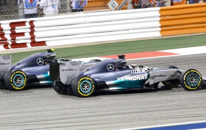 Hamilton e Rosberg GP Bahrein F1 (Foto: AP)