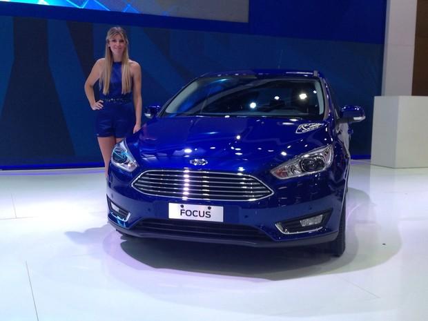 Ford Focus no Salão de Buenos Aires (Foto: Rafael Miotto/G1)