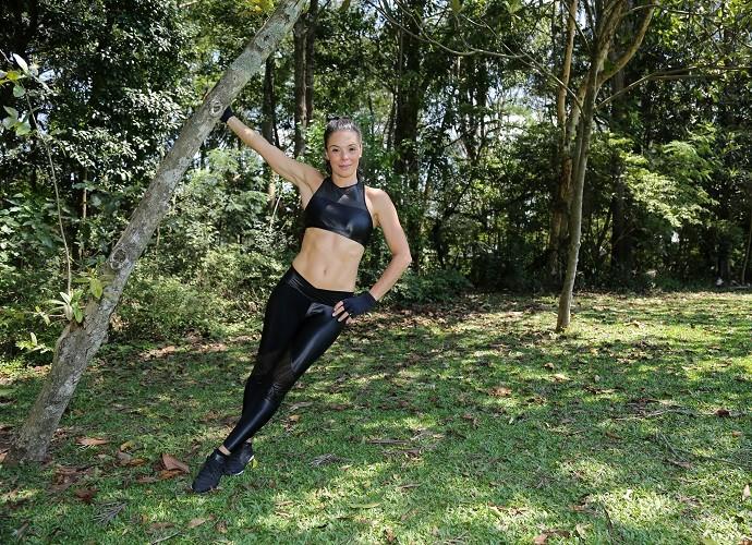 Atriz conta que o segredo para manter a forma foi fazer exercícios a vida toda (Foto: Carol Caminha/Gshow)
