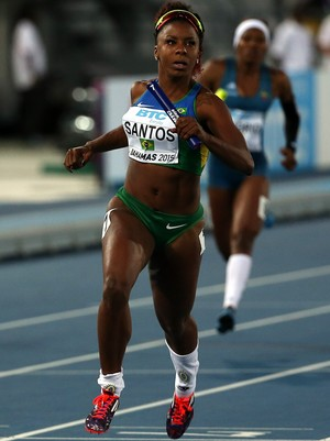Rosângela Santos 4x100m feminino mundial de revezamento (Foto: Mike ehrmann / Getty Images)