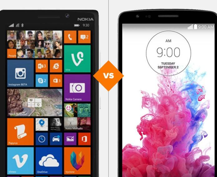 LG G3 e Lumia 930 frente a frente, qual leva a melhor? (Foto: Arte/TechTudo)