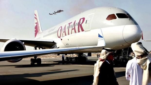 Avião da companhia aérea Qatar Airways (Foto: Divulgação)