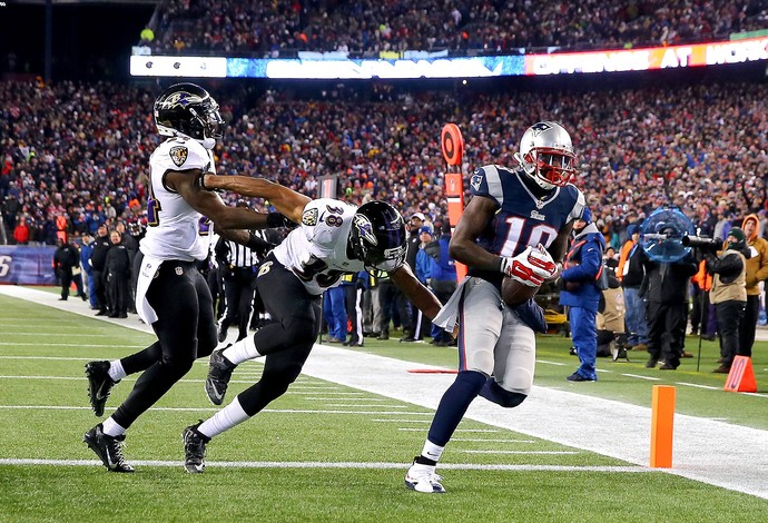 Brandon LaFell, New England Patriots x Baltimore Ravens NFL (Foto: Elsa / Getty Image)