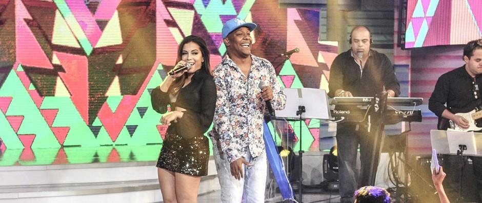 Anitta rebola com Márcio Victor e fala de bailarino do Psirico: 'Fiquei louca!' (Renato Rocha Miranda/Gshow)