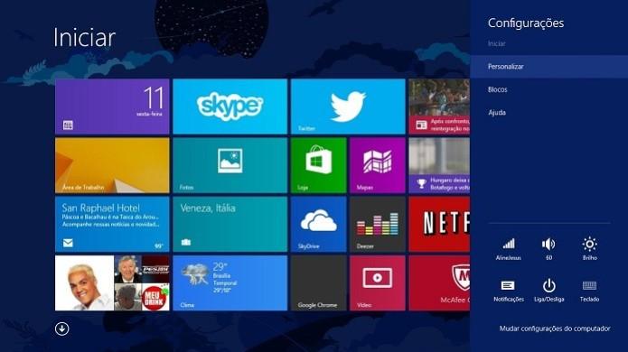 Windows 8 foto da tela (Foto: Reprodução/ Thiago Barros)