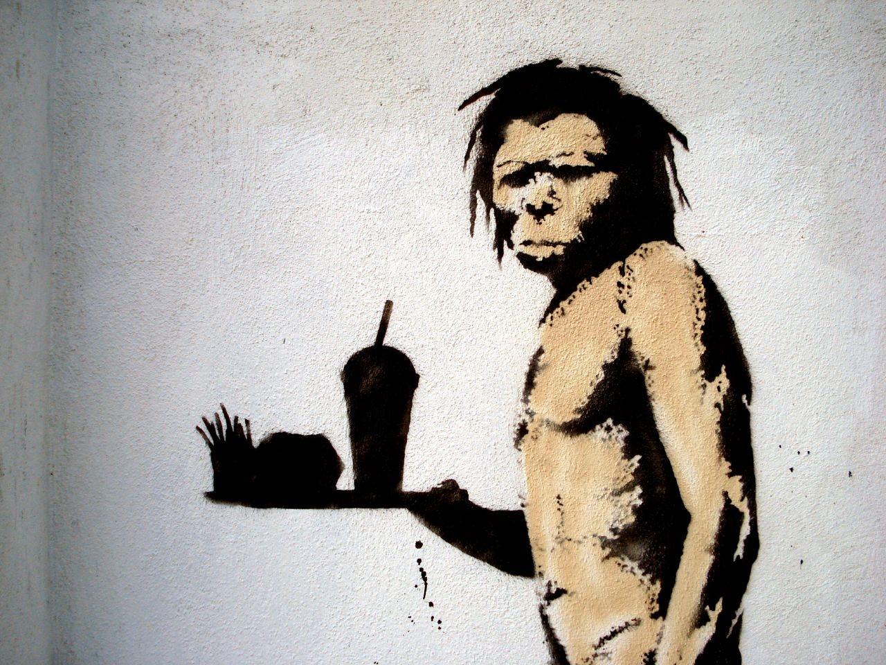 obra de banksy (Foto: Lord Jim / flickr / creative commons)
