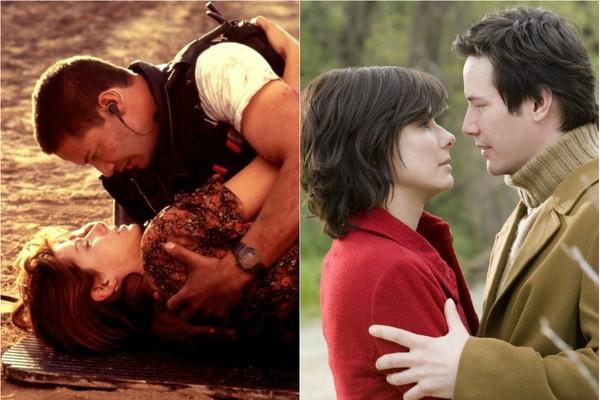 12 anos depois do primeiro filme que fizeram juntos, 'Velocidade Máxima' (1994), Sandra Bullock e Keanu Reeves deixaram a ação para trás para representar um casal no drama 'A Casa do Lago' (2006) (Foto: Divulgação)