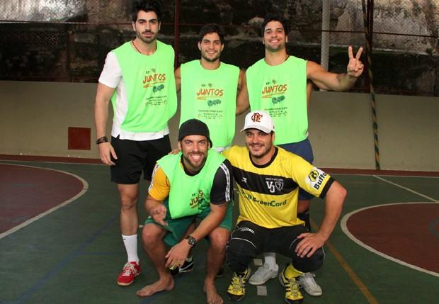 Ex-BBBs Rodrigão, André, Marcelo, Mau-Mau e Rafa (Foto: Thyago Andrade/Foto Rio News)