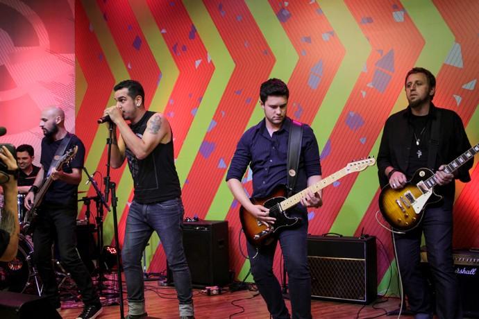 Banda Djoa Estúdio C (Foto: Bruno Vaz/RPC)