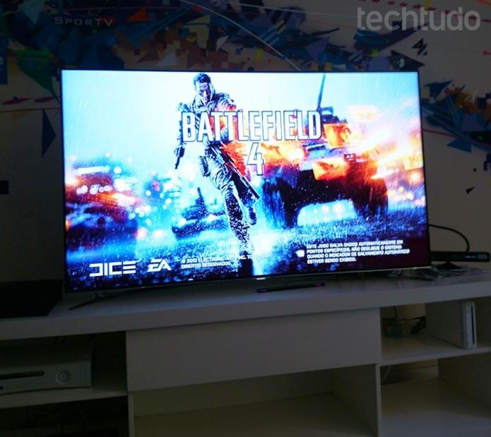 Imagens com maior nitidez tanto em filmes, como para os jogos da nova geração de consoles (Foto: Rodrigo Bastos/TechTudo)
