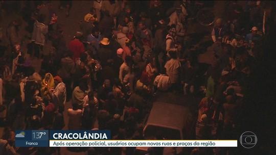 Usuários se concentram na Praça Princesa Isabel após ação na Cracolândia