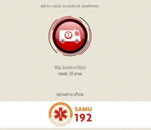 Usuário precisa clicar no botão na tela para acionar o Samu (Foto: Reprodução)
