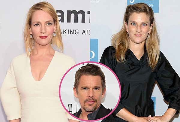 Ethan Hawke, Uma Thurman e Ryan Hawke (Foto: Getty Images)