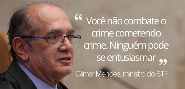 selo Gilmar Mendes critica vazamento de informações da Lava Jato (Foto: Carlos Humberto/SCO/STF)
