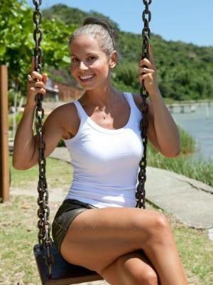 Michelle após perder 33kg (Foto: Divulgação/ O Blog da Mimis )