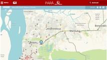 Veja quais os pontos de lentidão no trânsito (Reprodução / G1 Pará)