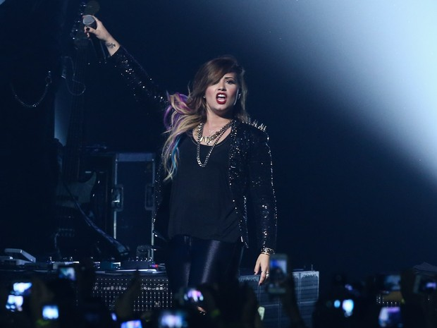 Demi Lovato faz show em São Paulo (Foto: Manuela Scarpa/ Foto Rio News)