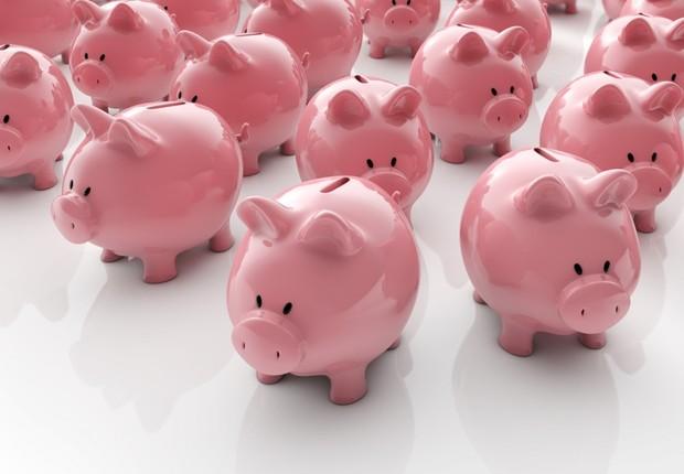 Guardar dinheiro ; poupança ; poupar dinheiro ; economizar ; planejar o futuro ; cofres de porquinho ;  (Foto: Shutterstock)