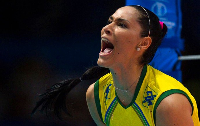 Brasil x Itália vôlei feminino Jaqueline (Foto: Reprodução / Twitter)