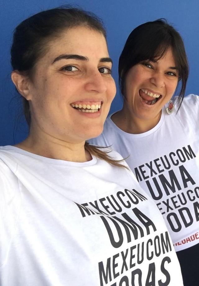 Paula Cesconetto levou clique direto do Projac em apoio à campanha (Foto: Reprodução/Instagram)