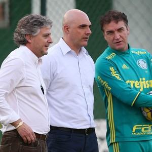 Paulo Nobre, Mauricio Galiotte e Cuca - Palmeiras (Foto: César Greco / Ag. Palmeiras / Divulgação)