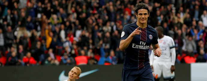 Cavani, Paris Saint-Germain (PSG) x Montpellier (Foto: REUTERS/Stephane Mahe)