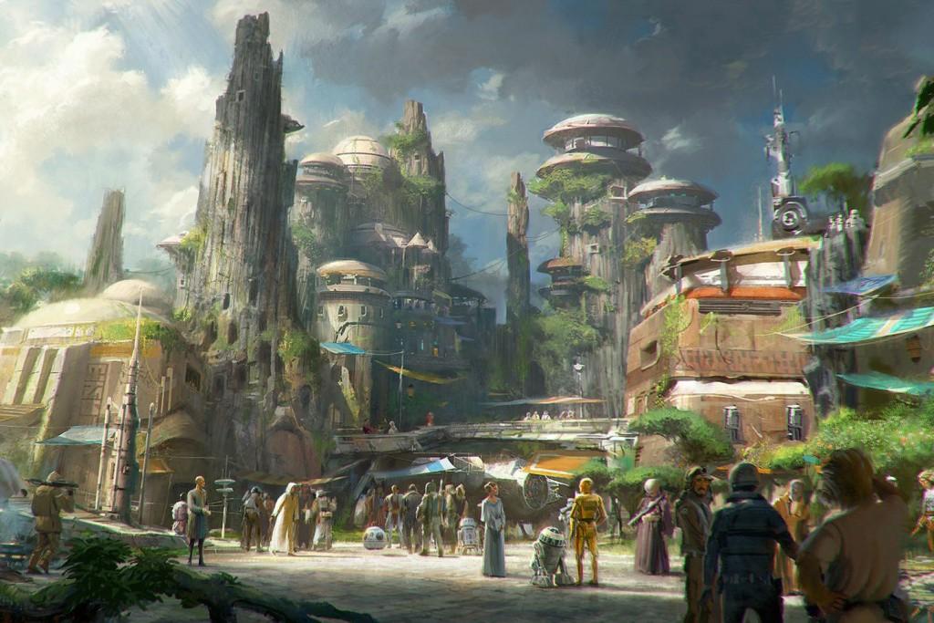 Projeto de como será a Star Wars Land, nos complexos Disney (Foto: Divulgação)