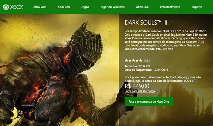 Clique em Faça a encomenda do Xbox One (Foto: Reprodução/Murilo Molina)