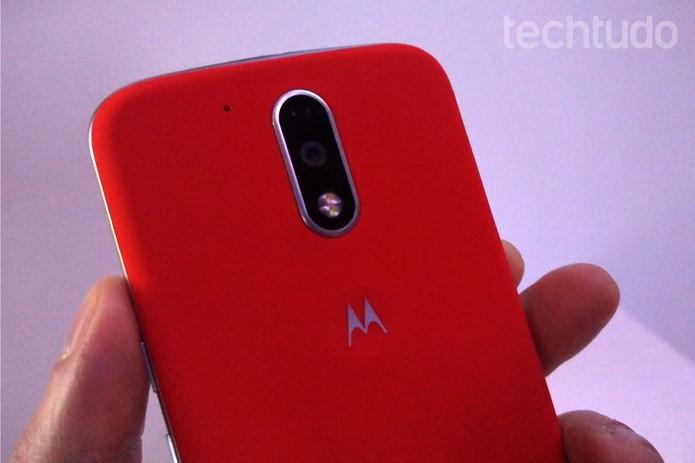 Câmera do Moto G 4 Plus em detalhe (Foto: Fabrício Vitorino/TechTudo)