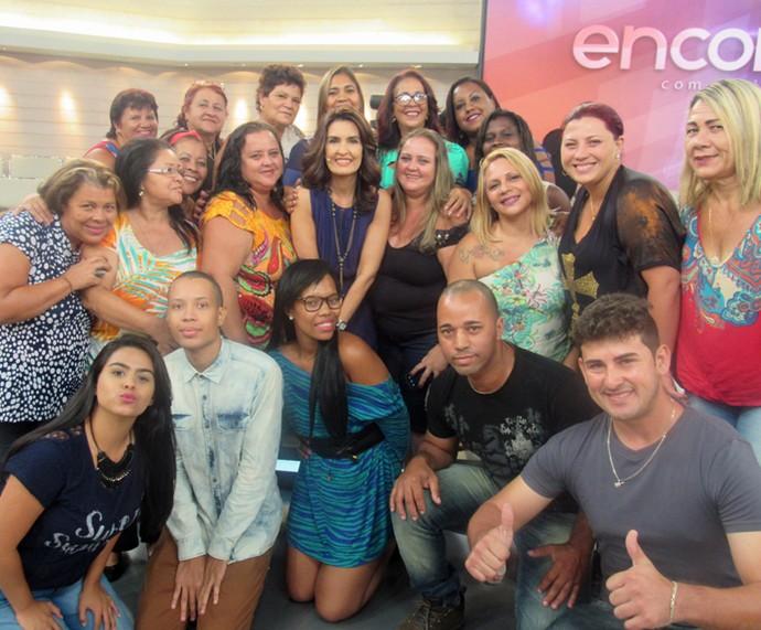 Mais plateia com Fátima Bernardes! (Foto: Monique Arruda/Gshow)