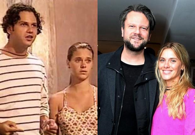 Carolina Dieckmann e Selton Mello em Tropicaliente (1994) e em 2017 (Foto: Reprodução/TV Globo e Marcello Sá Barreto/AgNews)
