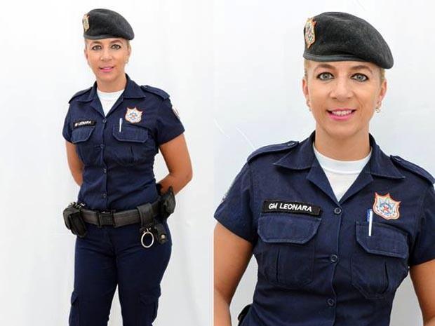 Leonara Naves concorre como guarda municipal mais bonita do país (Foto: Leonara Naves / Arquivo pessoal)