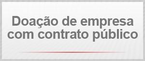 Doação de empresa com contrato público (Foto: G1)