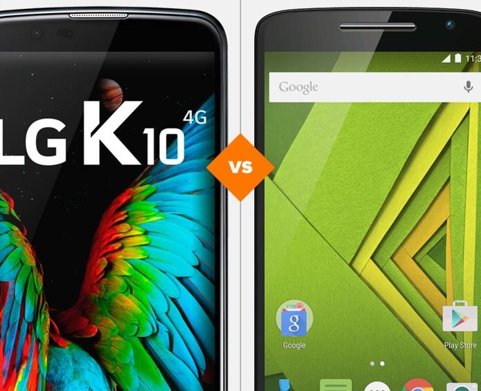 LG K10 ou Moto X Play: qual celular comprar (Foto: Arte/TechTudo)