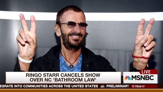 Ringo Starr cancela show na Carolina do Norte por causa de lei anti-LGBT