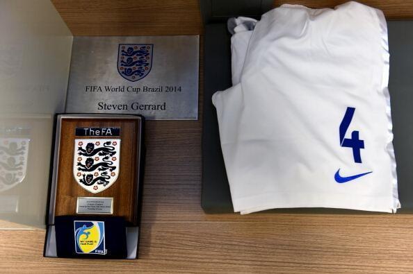 Uniforme de Steven Gerrard, da Inglaterra