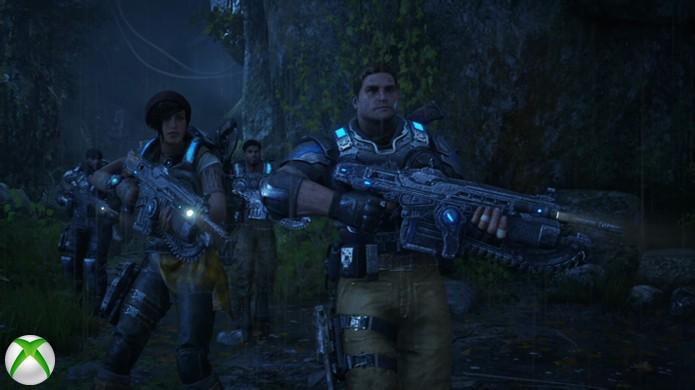 Em cenas noturnas de Gears of War 4 também há pouca diferença entre as versões (Foto: Reprodução/Hardcore Gamer)