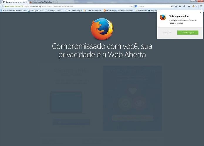Firefox está de cara nova (Foto: Divulgação/Mozilla)