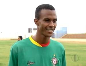 Fábio Faquinha, atacante do Santa Cruz-RN (Foto: Reprodução/Inter TV Cabugi)