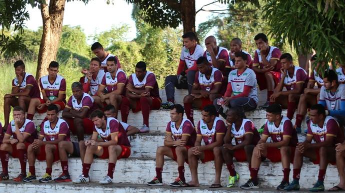 Jogadores do River-PI para a Série C  (Foto: Joana D'arc Cardoso/GloboEsporte.com )