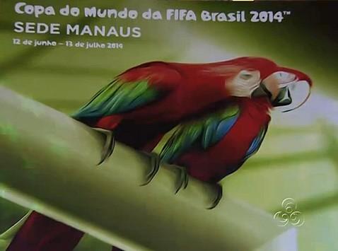 Lançamento do poster de Manaus, na copa 2014 (Foto: Bom dia Amazônia)