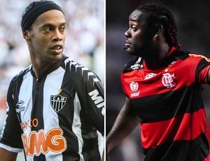 Ronaldinho gaúcho e Vagner Love Atlético-MG x Flamengo (Foto: Montagem sobre foto do Flickr)