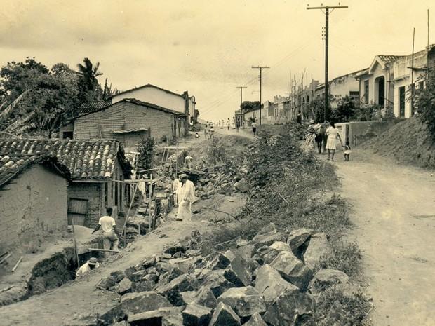 Primeiras casas da localidade do Curuzu (Foto: Arquivo Municipal/ Fundação Gregório de Matos)