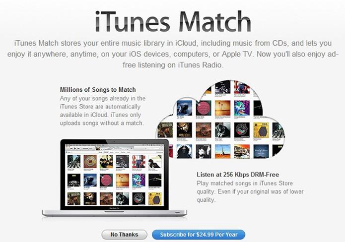 Assinatura do iTunes Match acaba com anúncios (Foto: Reprodução/Thiago Barros)