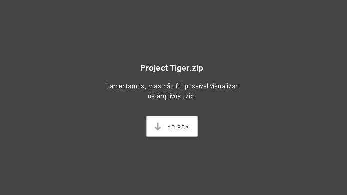 Para baixar o Project Tiger de Destiny no primeiro link basta clicar no botão Baixar na página (Foto: Reprodução/Rafael Monteiro)