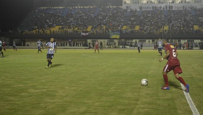 Princesa do Solimões arranca empate do Santos e prossegue na Copa Verde  (Foto: Jonhwene Silva/GE-AP)