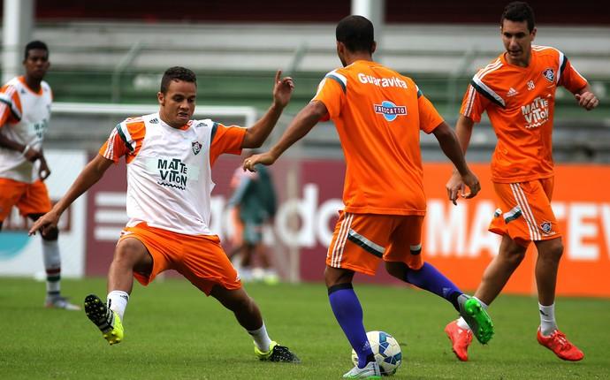 Rafinha Pierre e Higor Leite no treino do Fluminense (Foto: Nelson Perez / Fluminense FC)