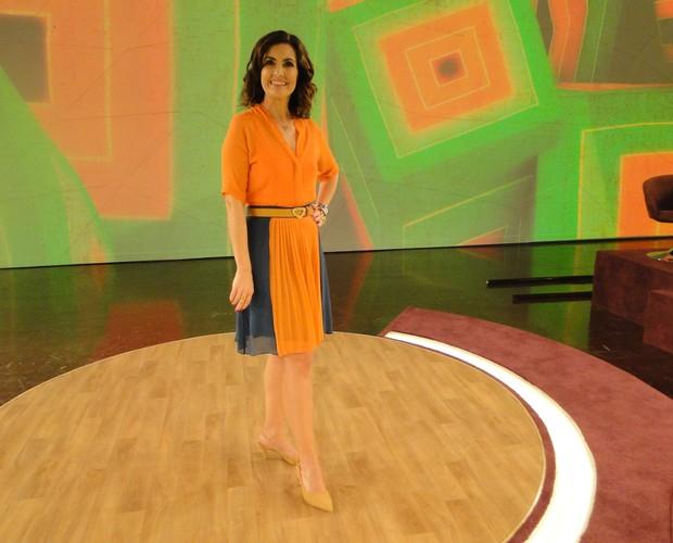Look de Fátima Bernardes de quarta-feira - 01-08-2012 (Foto: Encontro com Fátima Bernardes/TV Globo)