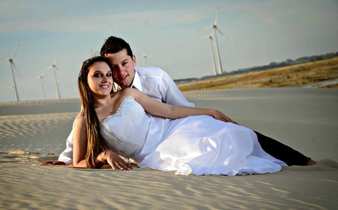 Alan Nunes de Melo e Ilana Cardoso Torres, de Cidreira  (Foto: Alessandra Santos/Divulgação)