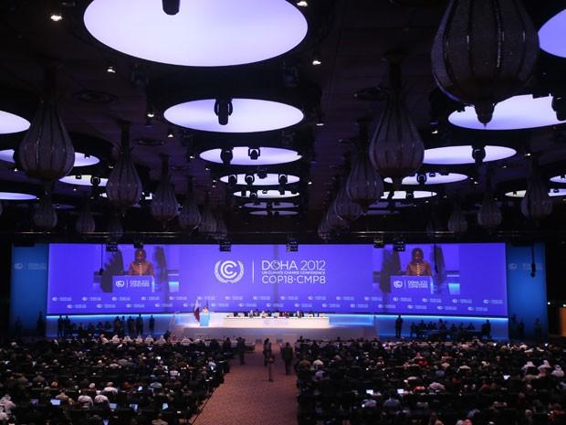Representantes de 190 países estão reunidos em Doha, no Qatar, para a COP 18. (Foto: AFP)